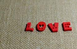 Miłość w brown tle Obrazy Royalty Free