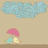 Miłość w deszczu ilustracji