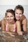 Miłość w morzu Zdjęcia Royalty Free