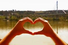 Miłość w naturze Obrazy Royalty Free