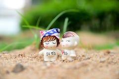 Miłość w ogródach Fotografia Royalty Free