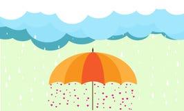 Miłość w parasolu Zdjęcia Stock