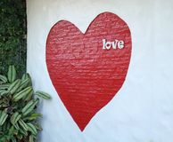 Miłość w sercu Zdjęcie Royalty Free
