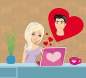 Miłość w sieci Fotografia Royalty Free