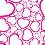 miłość wektor deseniowy bezszwowy Obrazy Royalty Free