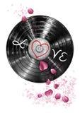 Miłość winyl Zdjęcie Stock