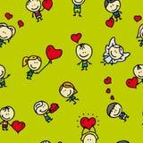 Miłość wzór Zdjęcia Stock