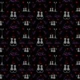 Miłość wzór kotów target1283_0_ Wektorowy illustranion pojęcie royalty ilustracja