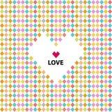 Miłość wzór, valentine dzień Obrazy Royalty Free
