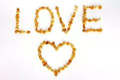 miłość złocisty znak Zdjęcie Stock