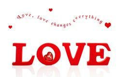 Miłość z sercem Obrazy Royalty Free