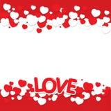 Miłość z sercem Zdjęcia Royalty Free