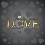 Miłość z złocistym pierścionkiem Obrazy Stock