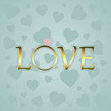 Miłość z złocistym pierścionkiem Zdjęcie Royalty Free