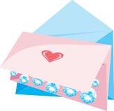 miłość zauroczyć pocztę royalty ilustracja