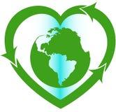 Miłość Ziemski eco ukierunkowywający znak Fotografia Royalty Free