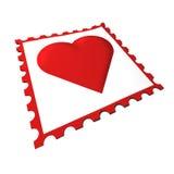 Miłość znaczek Obrazy Stock