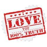 Miłość znaczek Fotografia Stock