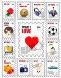 miłość znaczki Zdjęcia Stock