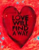 Miłość Znajduje sposobu znaka obrazy stock