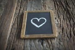 Miłość znak na chalkboard Obrazy Royalty Free