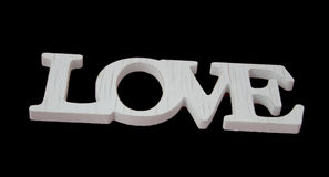 Miłość znak na czarnego pięknego sztandaru tapetowym projekcie ja Zdjęcia Stock