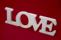 Miłość znak na czerwonego pięknego sztandaru projekta tapetowej bolączce Zdjęcie Stock