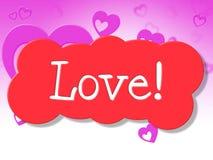 Miłość znaka przedstawień pokazu adoracja I polubienie ilustracja wektor