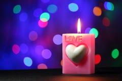 Miłości świeczka Fotografia Stock