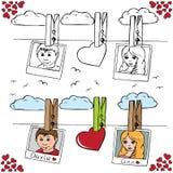 6 miłości Obraz Stock