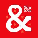 Miłości ampersand kierowa typografia to ty royalty ilustracja