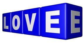 Miłości błękita sześciany Fotografia Stock