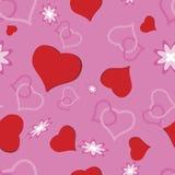 miłości bezszwowy deseniowy Fotografia Royalty Free