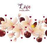 miłości bezszwowy deseniowy Zdjęcie Stock