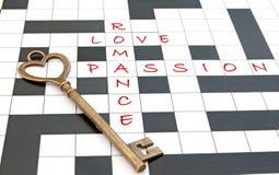 Miłości crossword Obrazy Royalty Free