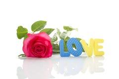 miłości czerwieni różany tekst Zdjęcie Royalty Free