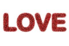 miłości deseniowy teksta świecidełko Fotografia Stock