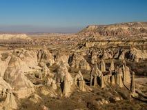 Miłości dolina w Cappadocia, Turcja Obraz Royalty Free