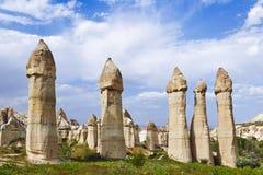 Miłości dolina w Goreme parku narodowym cappadocia obraz royalty free