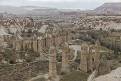 Miłości dolina w Goreme parku narodowym cappadocia Zdjęcie Royalty Free