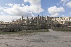 Miłości dolina w Goreme parku narodowym cappadocia Obrazy Royalty Free