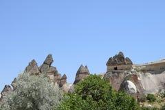 Miłości dolina w Goreme parku narodowym Cappadocia, Turcja Zdjęcia Royalty Free