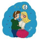Miłości dziewczyny i faceta przytulenie Zdjęcia Stock