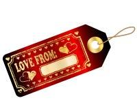 miłości etykietka Zdjęcie Stock