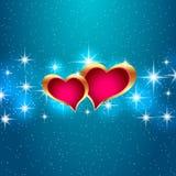Miłości gwiazdowego tła piękni jaskrawi serca Wektorowa ilustracja eps10 Zdjęcie Royalty Free