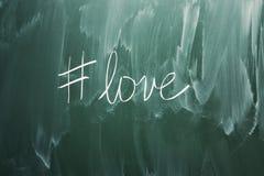 Miłości hashtag symbol Obrazy Stock