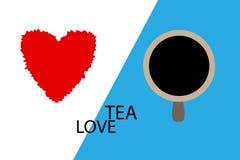 Miłości herbata Fotografia Stock