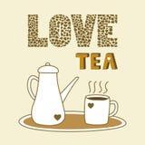 Miłości herbata ilustracji