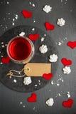 Miłości i walentynki dekoracja z sercami Zdjęcia Stock