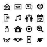 Miłości ikona Fotografia Royalty Free